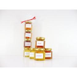 * Lot de 4 mini pots de miel