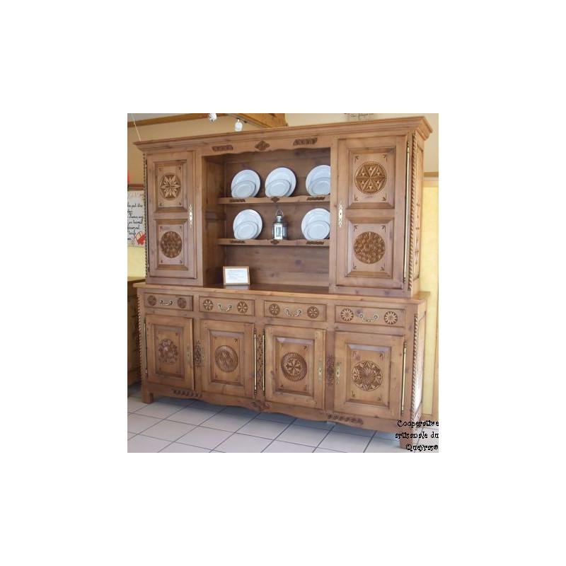 Bahut Vaisselier en bois massif - Achat / Vente meuble salle à manger