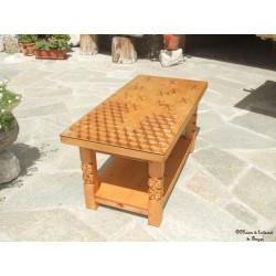 Table basse rectangulaire motif dissymétrique