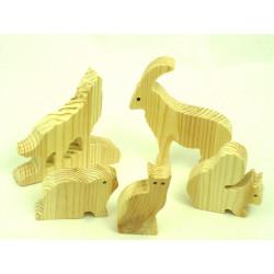 Petits animaux bois épais