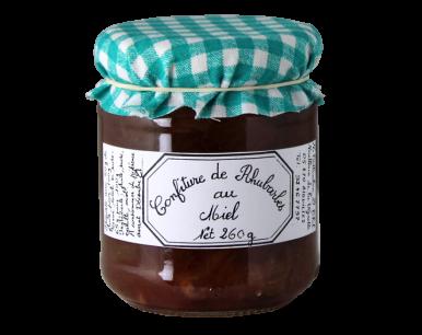 Confiture de rhubarbes au miel