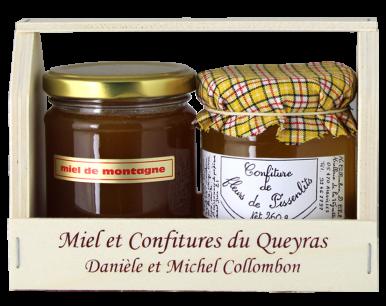Petit panier confiture et miel
