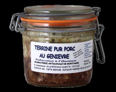 Terrine pur porc au Genièvre