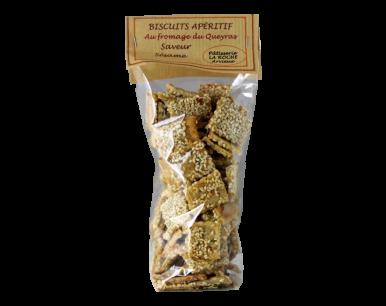 Biscuits apéritifs au fromage du Queyras saveur sésame