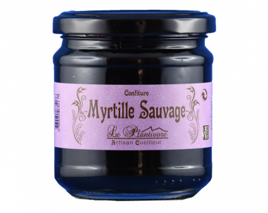 Confiture de myrtille sauvage