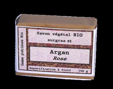 Savon biologique argan rose
