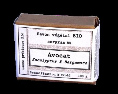 Savon biologique avocat, bergamote et eucalyptus