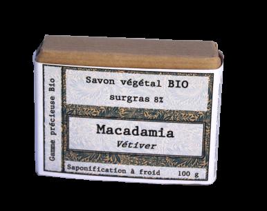 Savon biologique macadamia vetiver