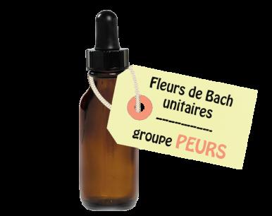 """Fleurs de Bach unitaires - """"PEURS"""""""