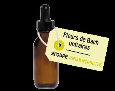 """Fleurs de Bach unitaires - """"INFLUENCABILITE"""""""