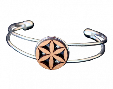 Bracelet bois - acier