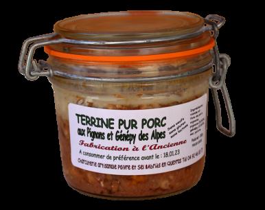 Terrine Pur Porc aux Pignons et Génépy des Alpes