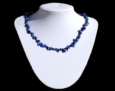 Collier et bracelet baroques en lapis lazuli