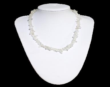 Collier et bracelet baroques en cristal de roche