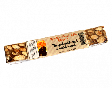 Nougat traditionnel au miel de lavande