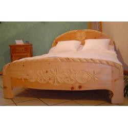 lit à grosses torsades