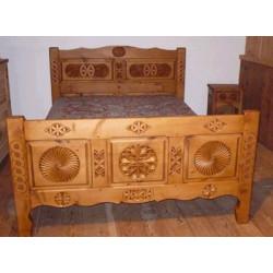 lit en 140 avec 3 panneaux