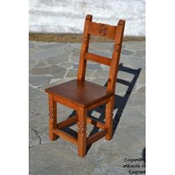Chaise tout bois pieds sculptés